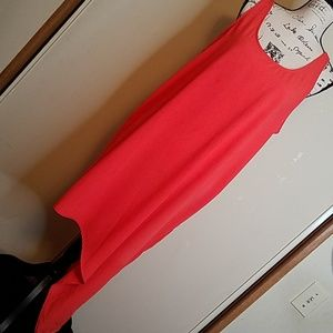 Mossimo, coral extra large asymmetrical dress